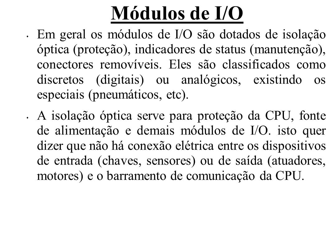Módulos de I/O