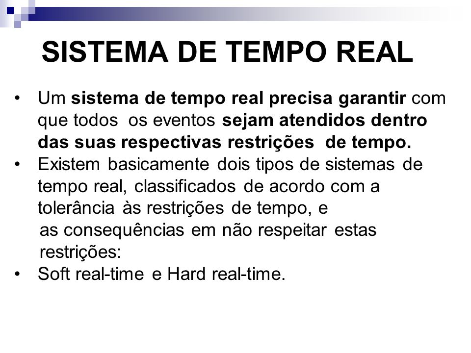 SISTEMA DE TEMPO REAL