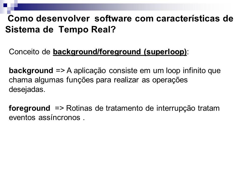 Como desenvolver software com características de Sistema de Tempo Real
