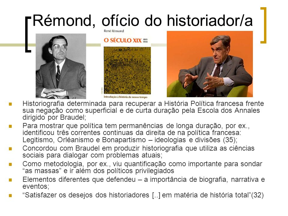 Rémond, ofício do historiador/a