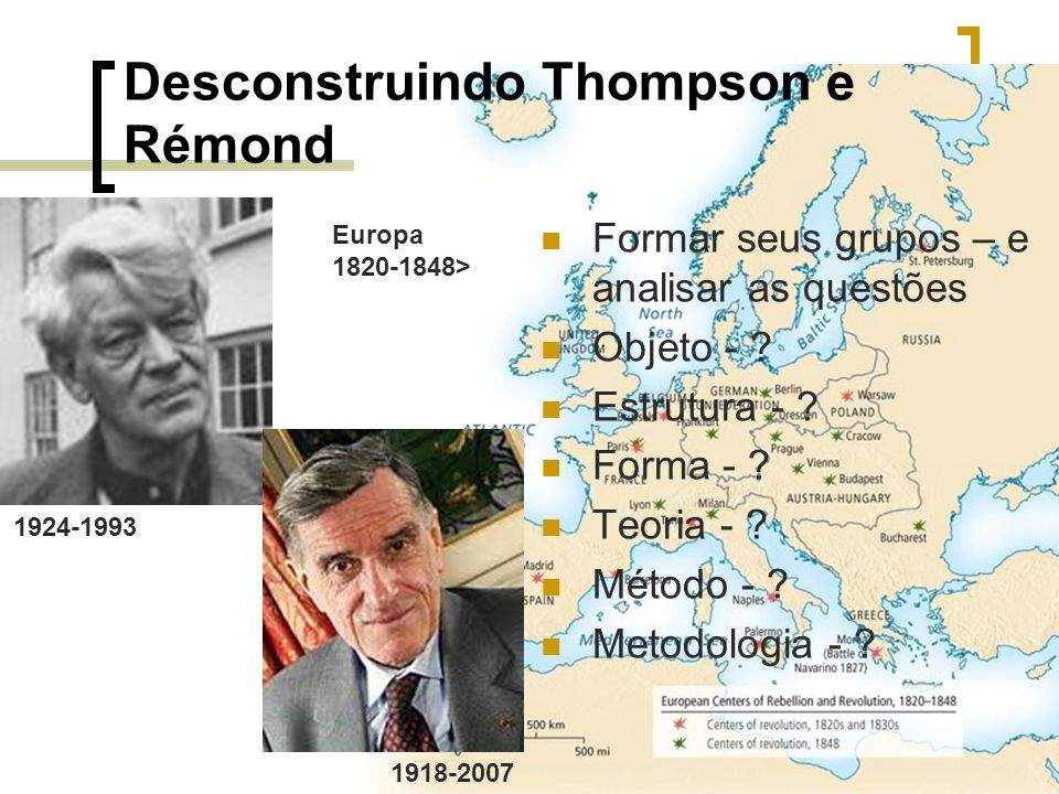 Desconstruindo Thompson e Rémond