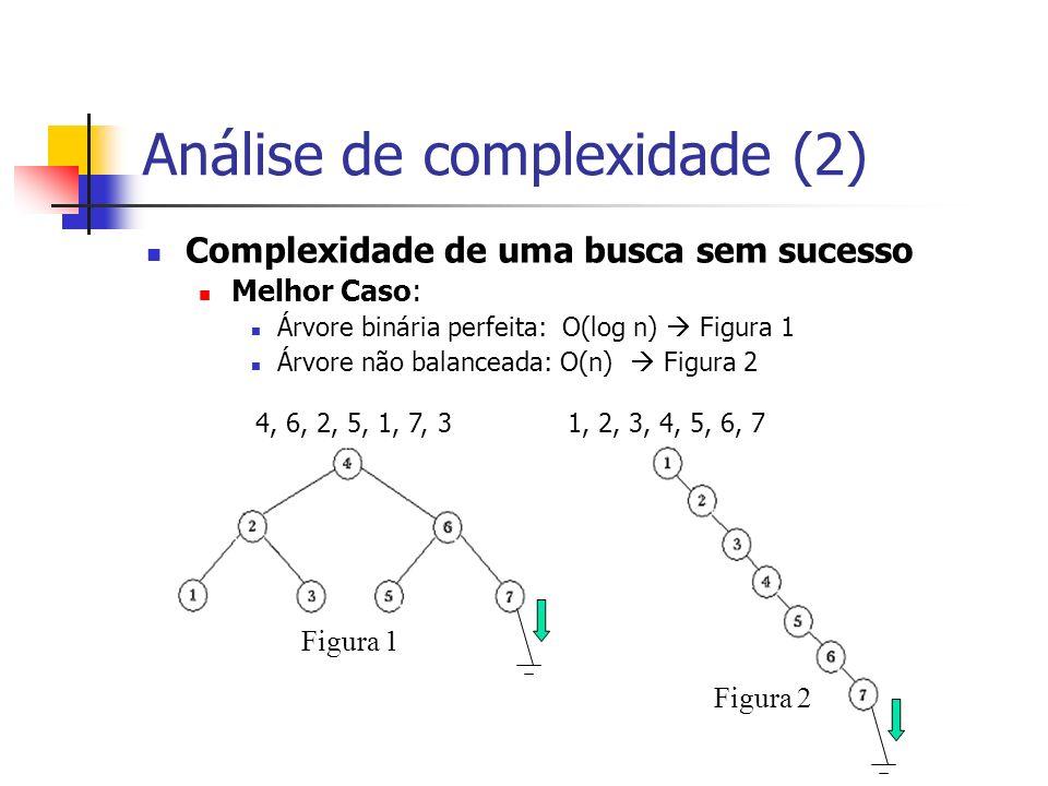 Análise de complexidade (2)