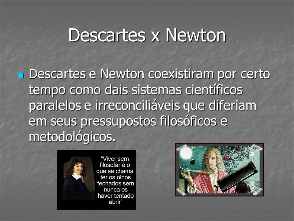 Descartes x Newton