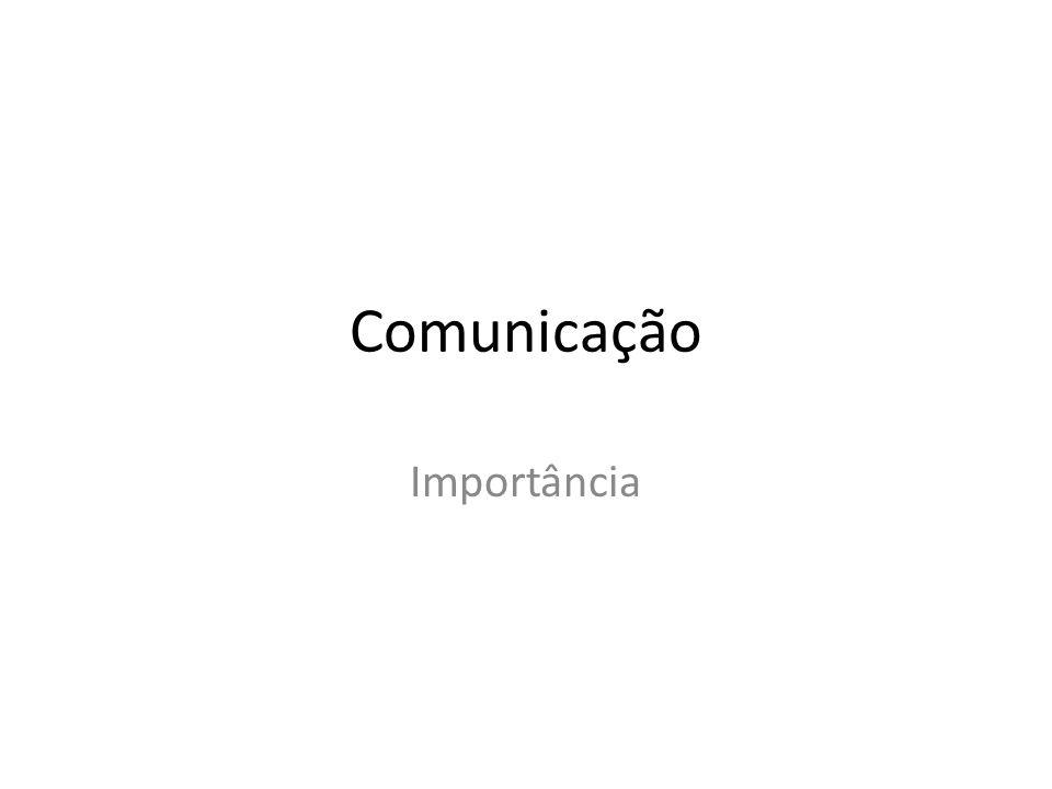 Comunicação Importância