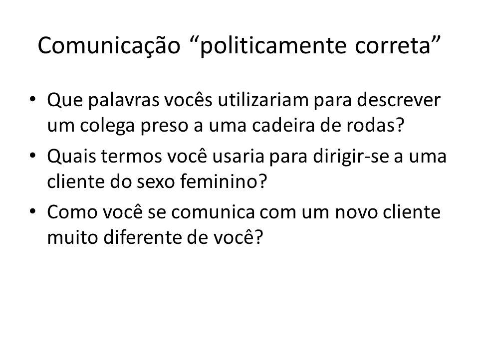 Comunicação politicamente correta