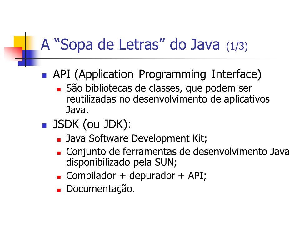 A Sopa de Letras do Java (1/3)
