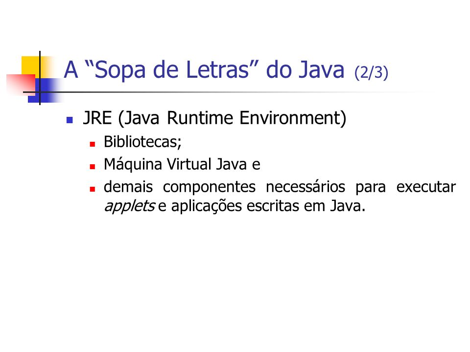 A Sopa de Letras do Java (2/3)