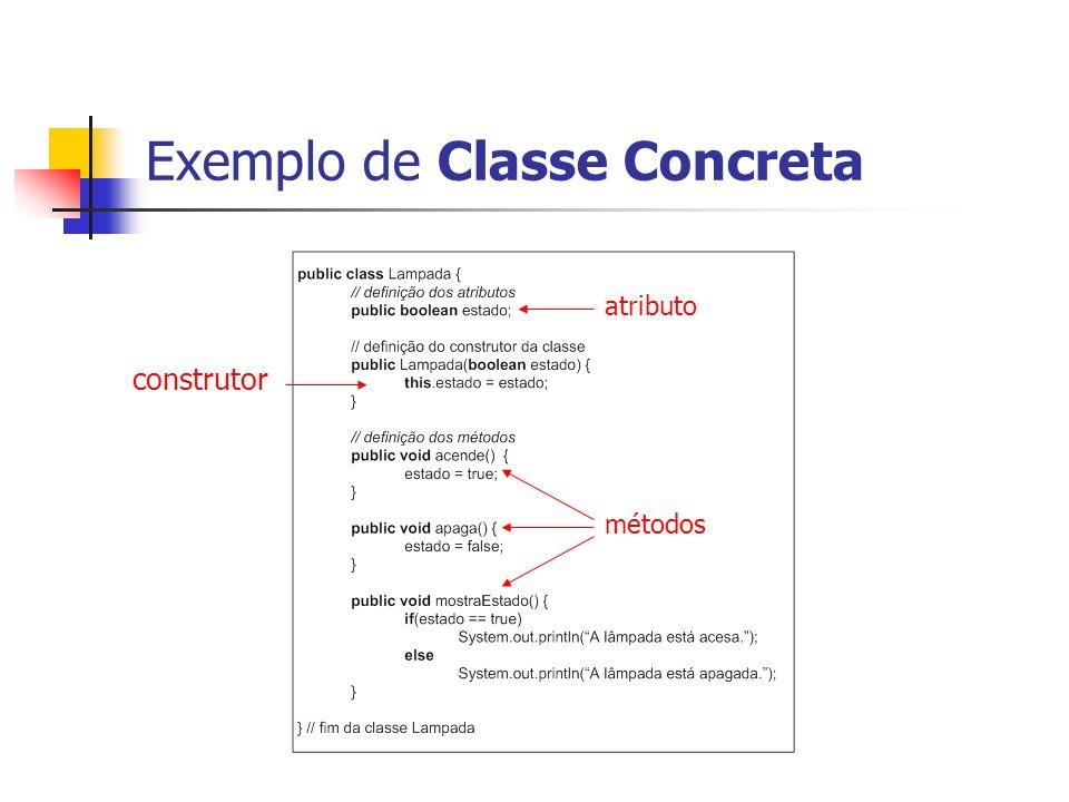 Exemplo de Classe Concreta