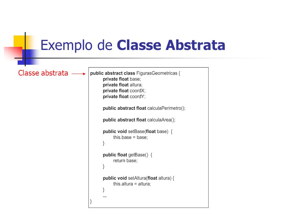 Exemplo de Classe Abstrata