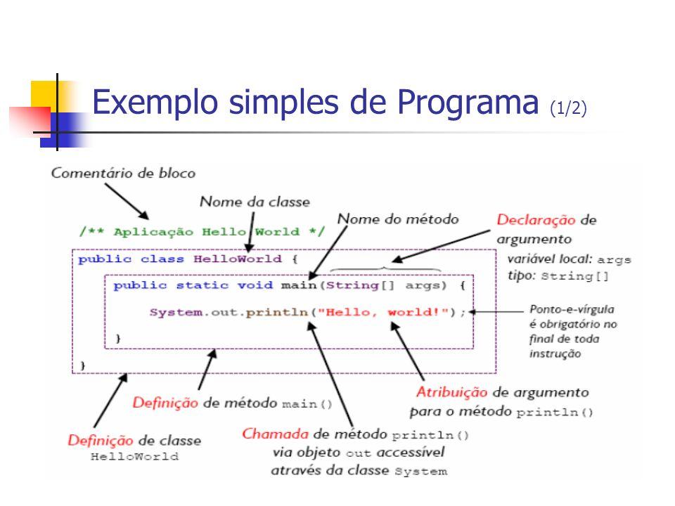 Exemplo simples de Programa (1/2)