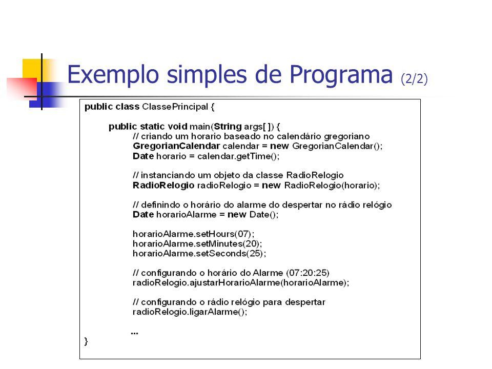 Exemplo simples de Programa (2/2)