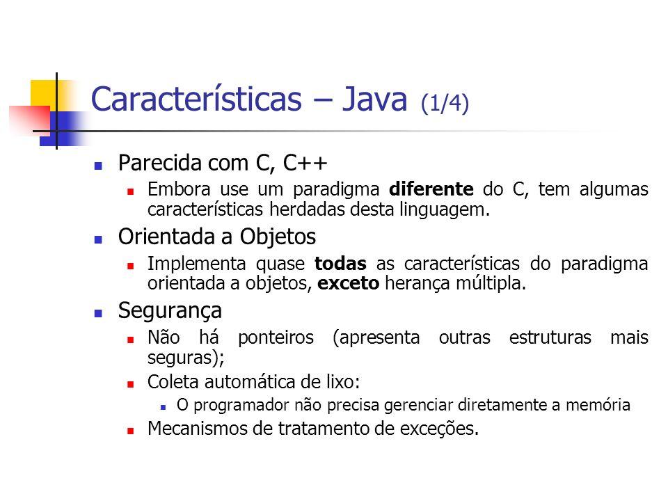 Características – Java (1/4)