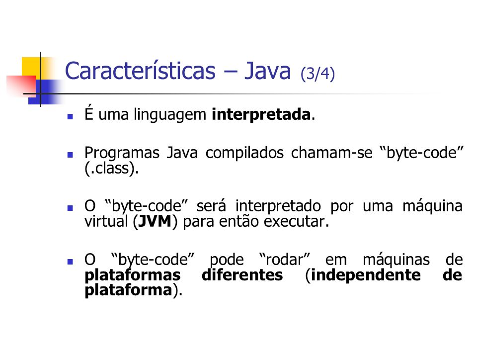 Características – Java (3/4)