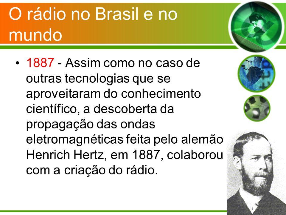 O rádio no Brasil e no mundo