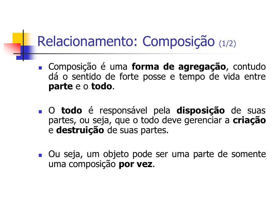 Relacionamento: Composição (1/2)