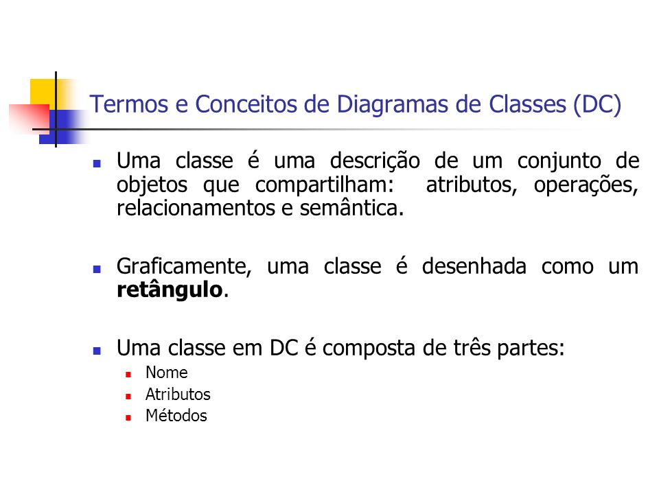 Termos e Conceitos de Diagramas de Classes (DC)