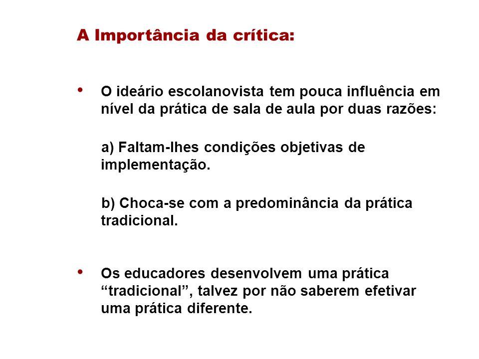 A Importância da crítica:
