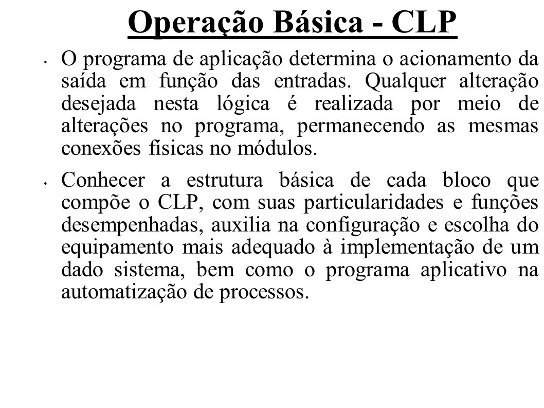 Operação Básica - CLP