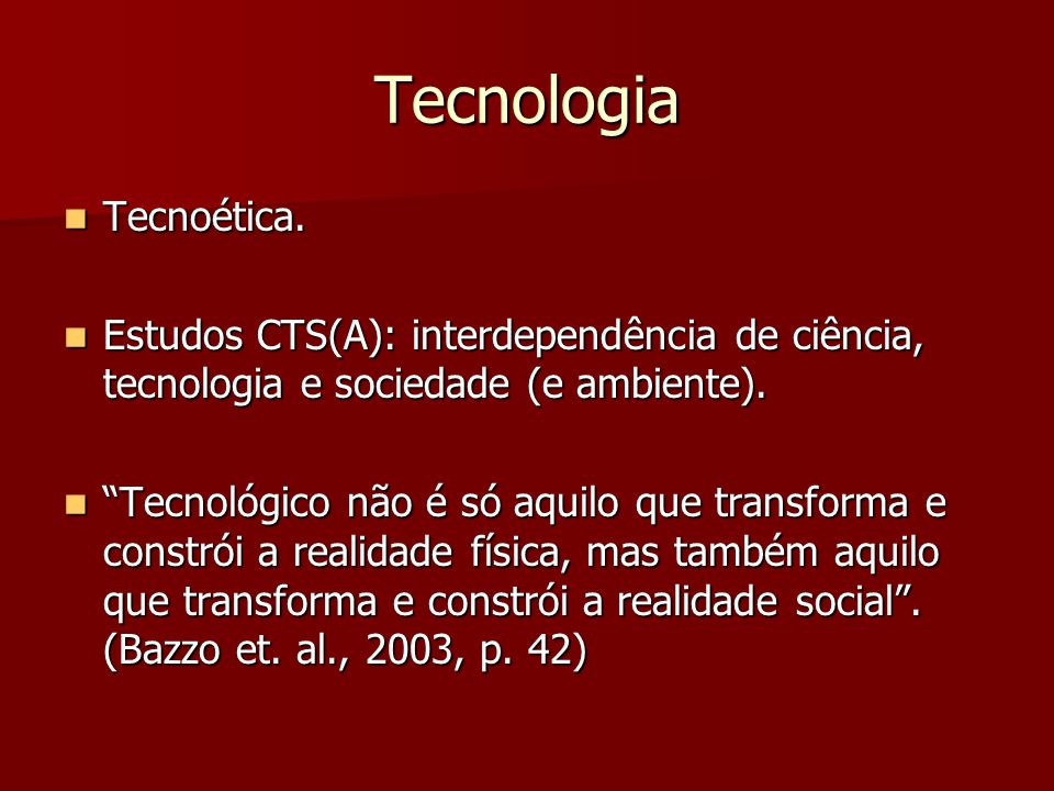 Tecnologia Tecnoética.