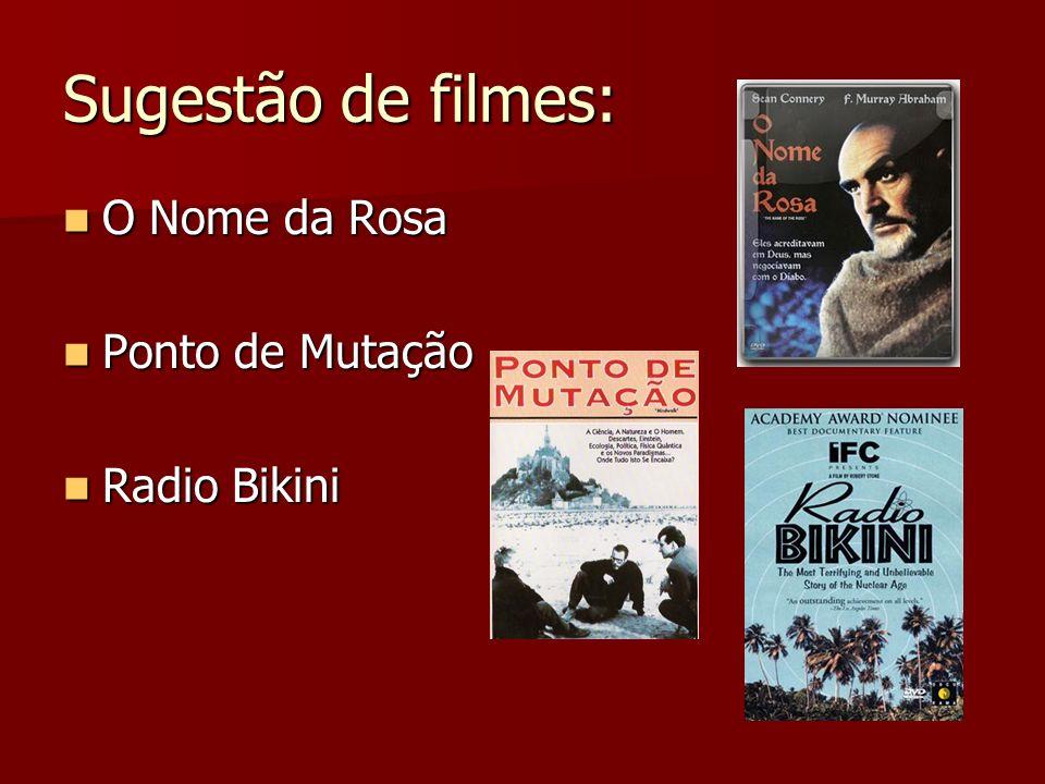 Sugestão de filmes: O Nome da Rosa Ponto de Mutação Radio Bikini