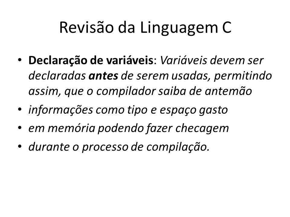 Revisão da Linguagem C