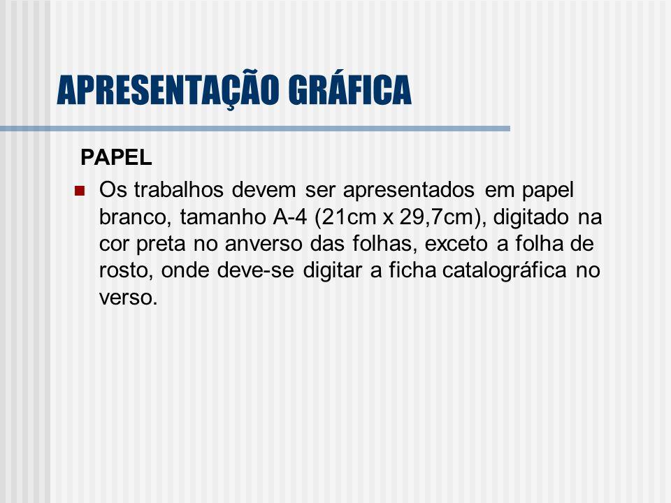 APRESENTAÇÃO GRÁFICA PAPEL