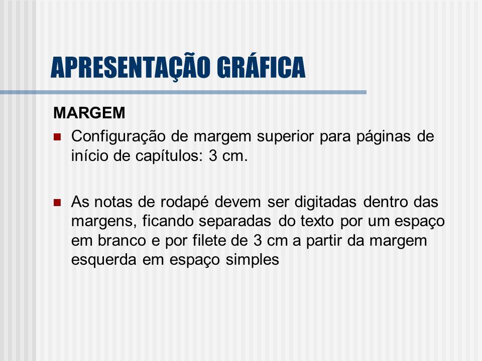APRESENTAÇÃO GRÁFICA MARGEM