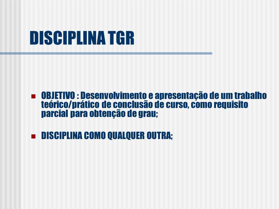 DISCIPLINA TGR