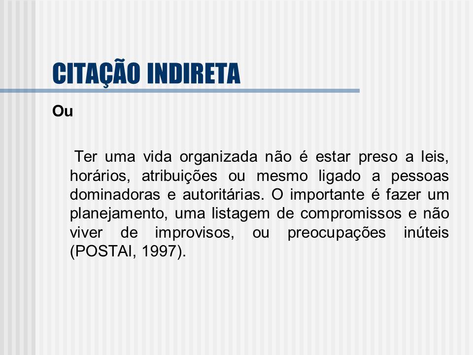 CITAÇÃO INDIRETA Ou.