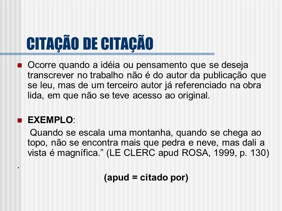 CITAÇÃO DE CITAÇÃO