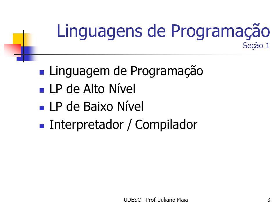 Linguagens de Programação Seção 1