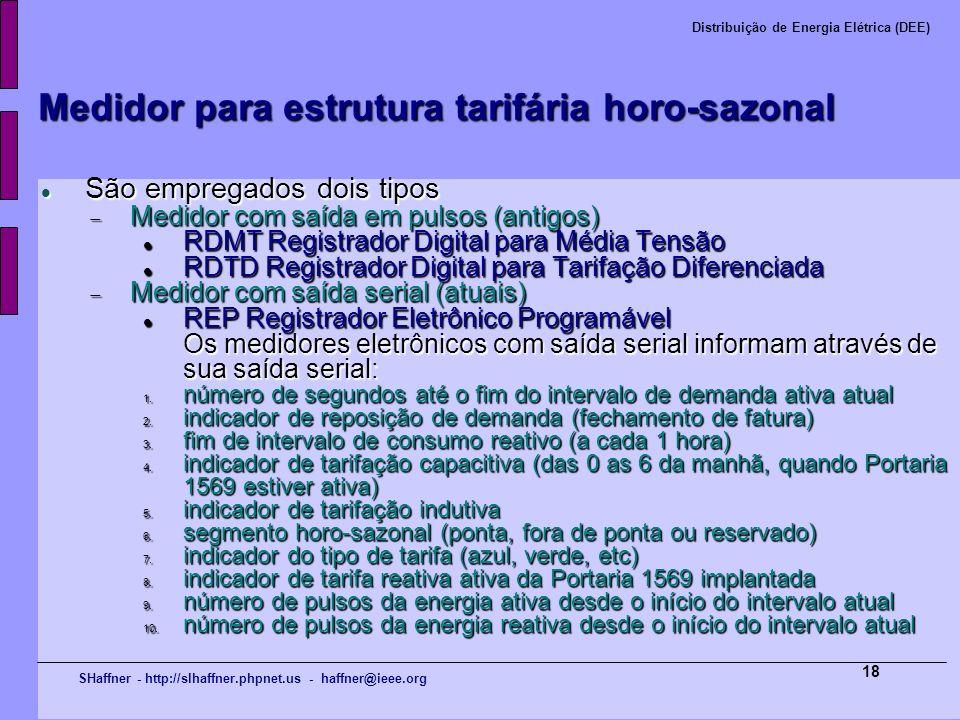 Medidor para estrutura tarifária horo-sazonal