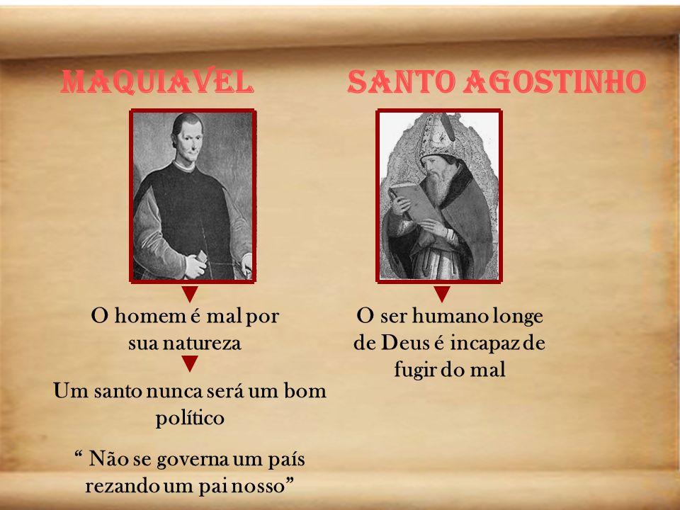 Maquiavel Santo Agostinho O homem é mal por sua natureza