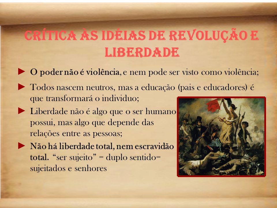 Crítica às Idéias de Revolução e Liberdade