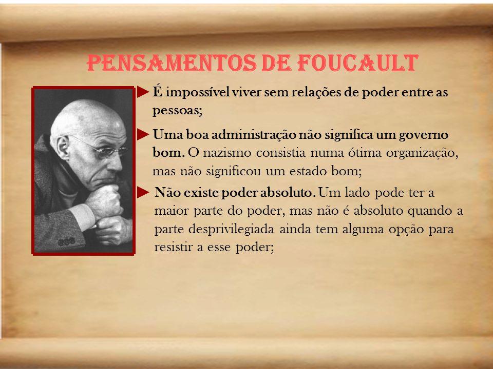 Pensamentos de Foucault