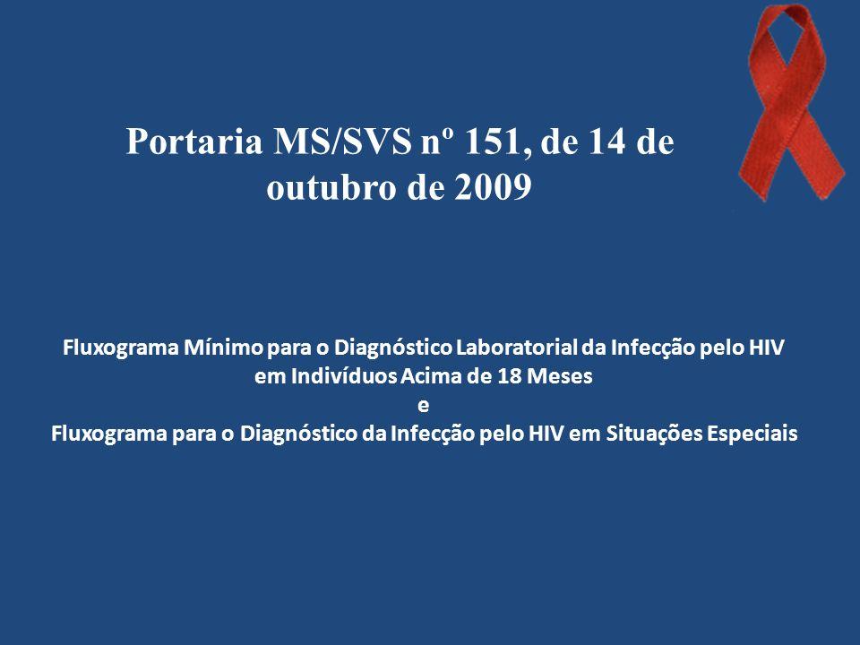Portaria MS/SVS nº 151, de 14 de outubro de 2009