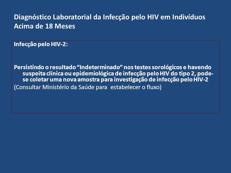 Diagnóstico Laboratorial da Infecção pelo HIV em Indivíduos Acima de 18 Meses