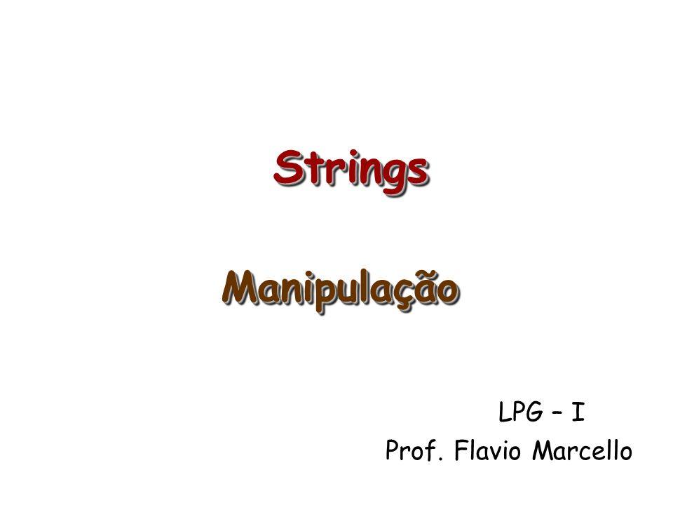 LPG – I Prof. Flavio Marcello