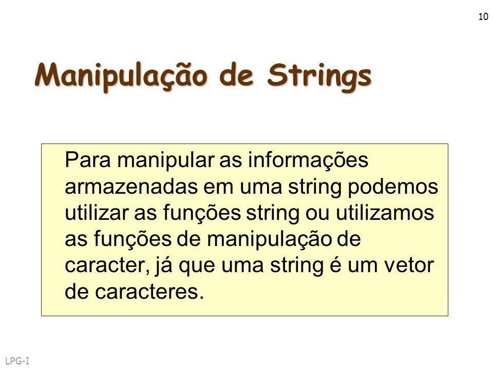 Manipulação de Strings