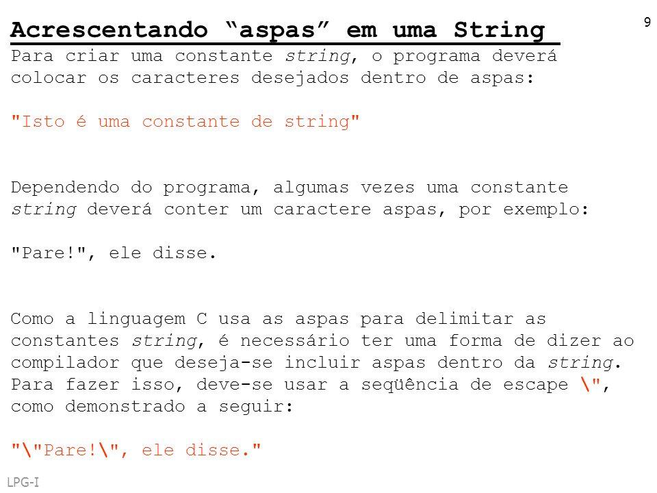Acrescentando aspas em uma String