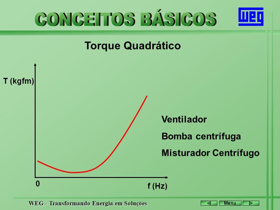 Torque Quadrático Ventilador Bomba centrífuga Misturador Centrífugo