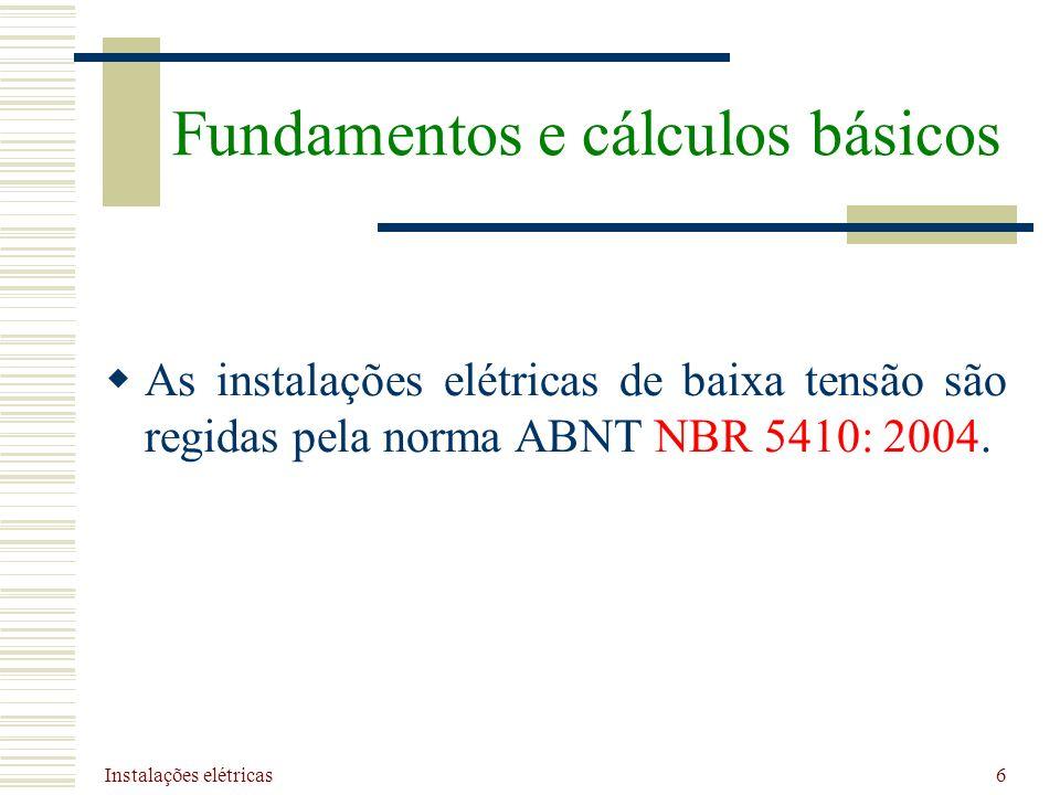 Fundamentos e cálculos básicos