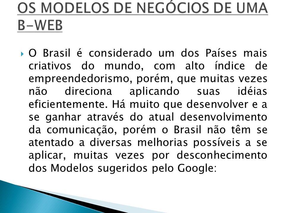 OS MODELOS DE NEGÓCIOS DE UMA B-WEB