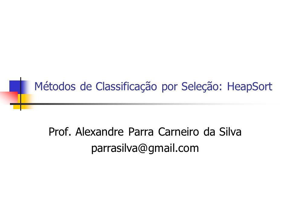 Métodos de Classificação por Seleção: HeapSort