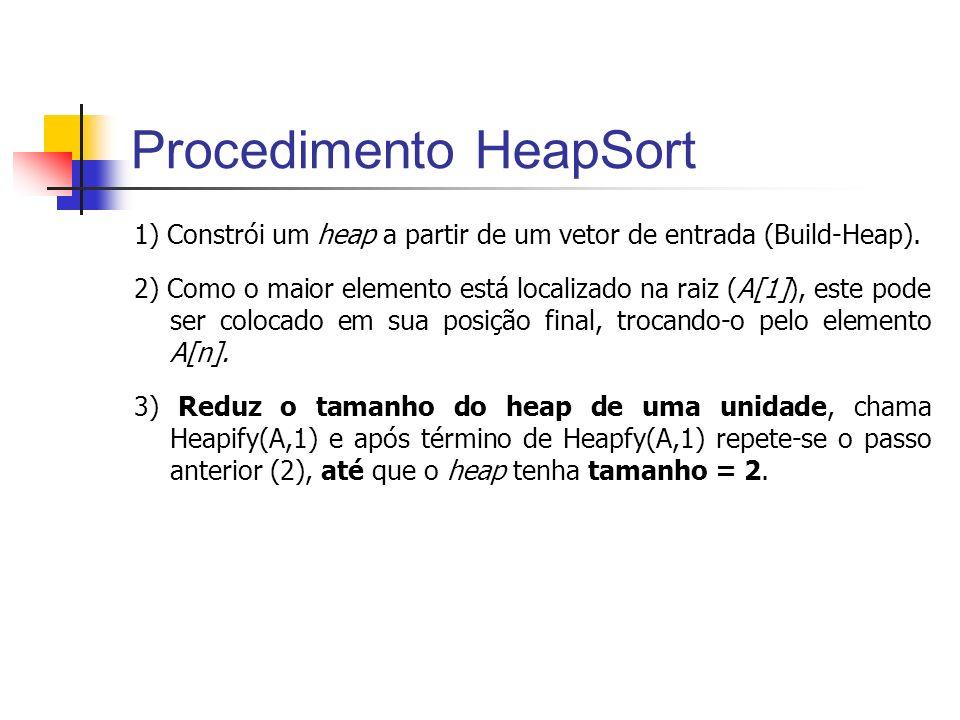 Procedimento HeapSort