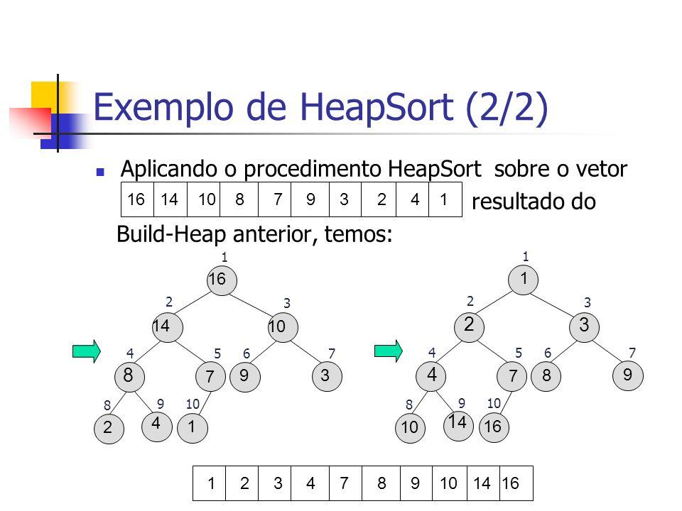 Exemplo de HeapSort (2/2)