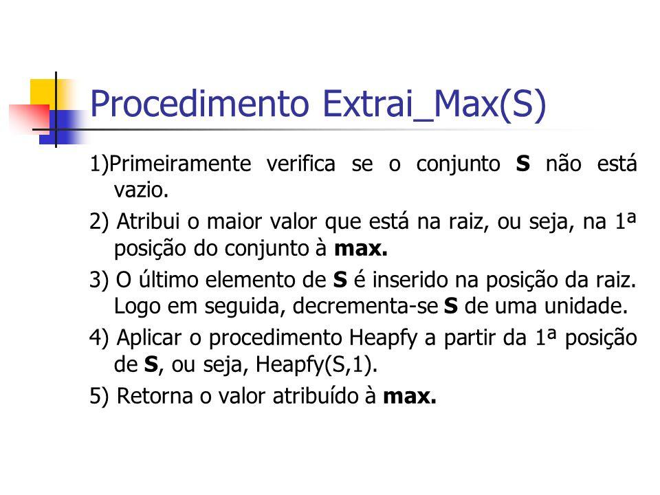 Procedimento Extrai_Max(S)