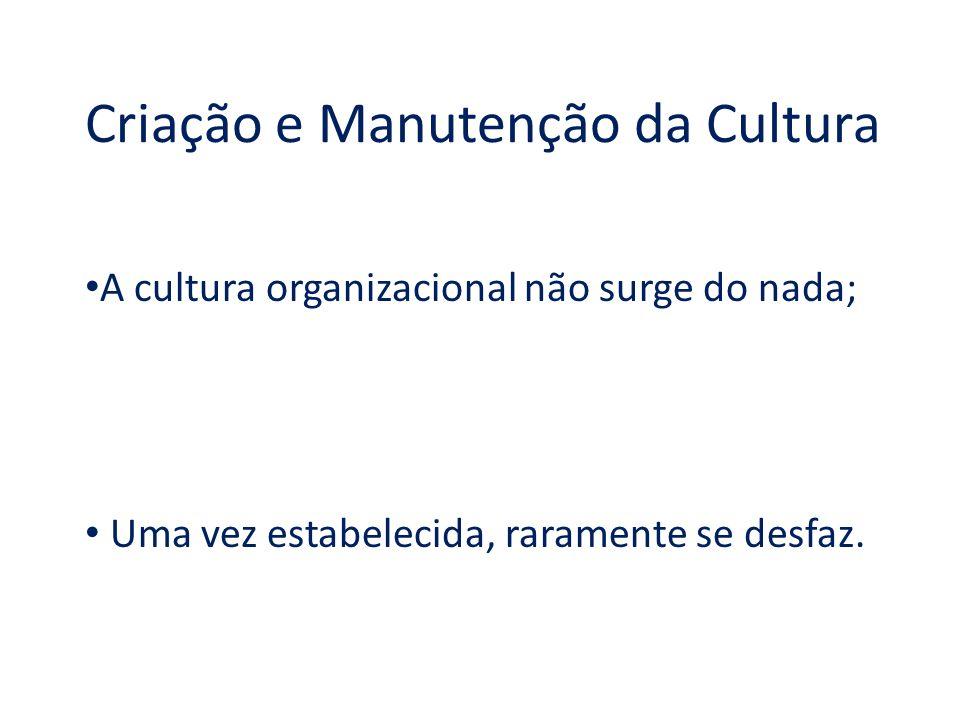 Criação e Manutenção da Cultura