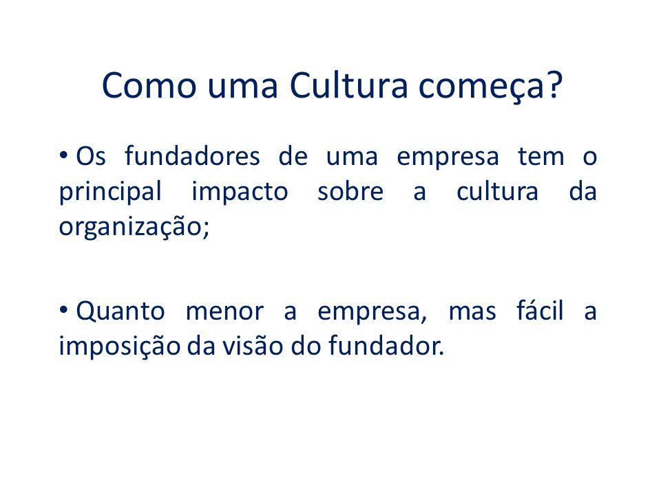 Como uma Cultura começa