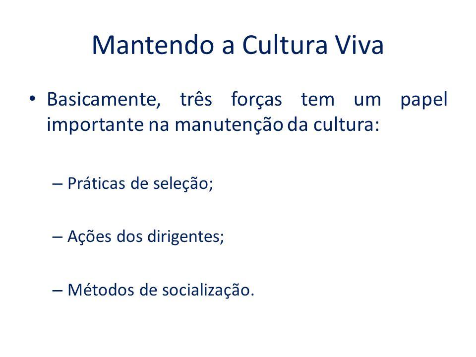 Mantendo a Cultura Viva